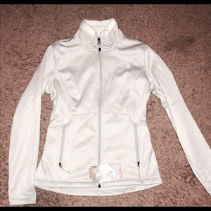 Women's Gray Zip Up Fuzzy inside